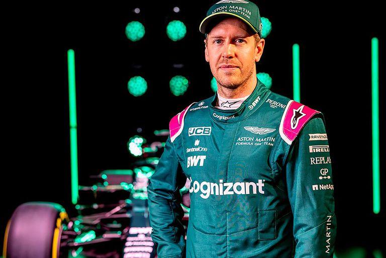 Los nuevos colores de Sebastian Vettel; el germano, tetracampeón entre 2010 y 2013, intentará redescubrirse en Aston Martin, luego de los seis años en Ferrari