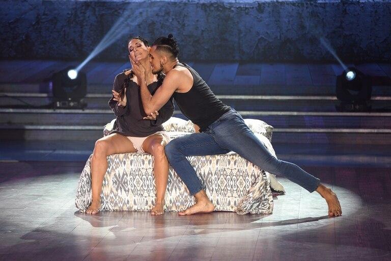 En su propuesta, la bailarina quiso tocar el tema de la violencia de género, pero su actuación no convenció al jurado