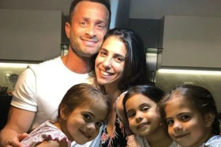 Matías Baclini se reencontró con las hijas de Cinthia Fernández y protagonizó un emotivo video