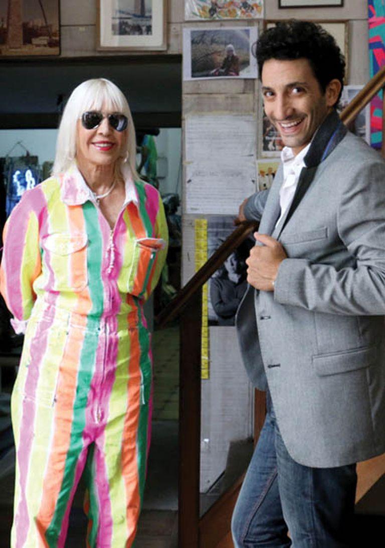 Marta y Juan Minujín, divertidos frente a la cámara