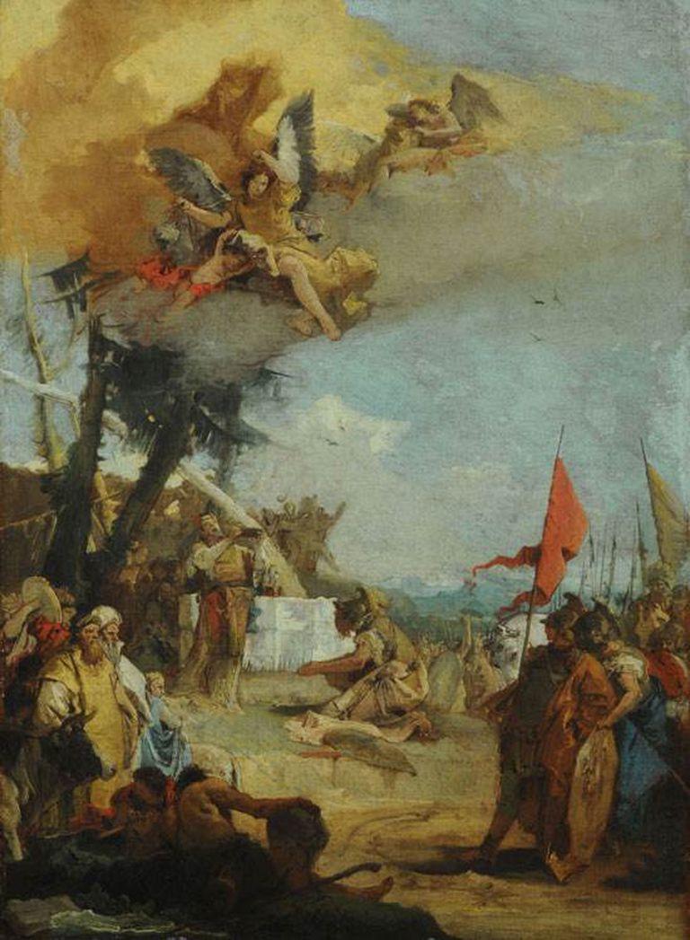 El sacrificio de Melquisedec, Giovanni Battista Tiepolo, ca. 1740-1742