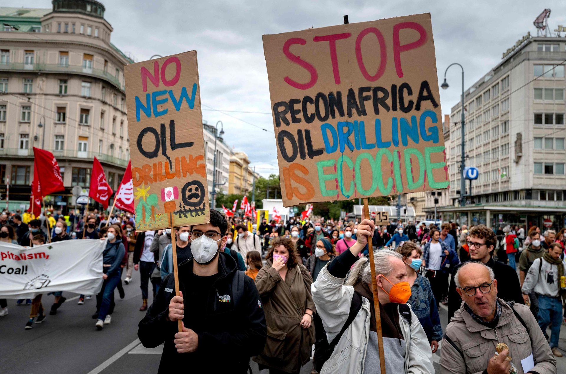 Protesta de Huelga Climática Global del movimiento Fridays for Future en Viena, Austria, el 24 de septiembre de 2021