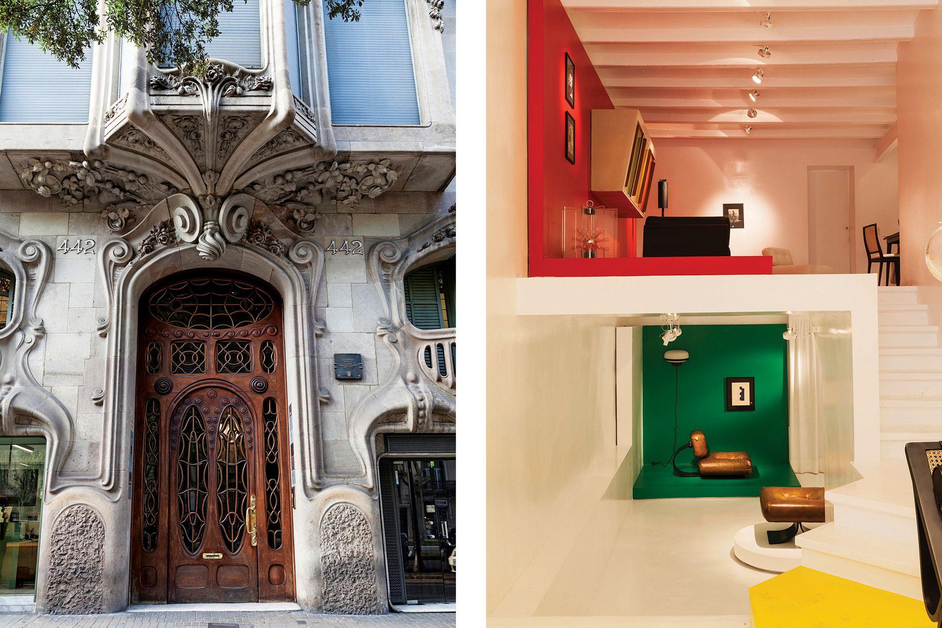 La Casa Comalat está en Avinguda Diagonal, 442; Side Gallery, en Carrer d'Enric Granados, 80.