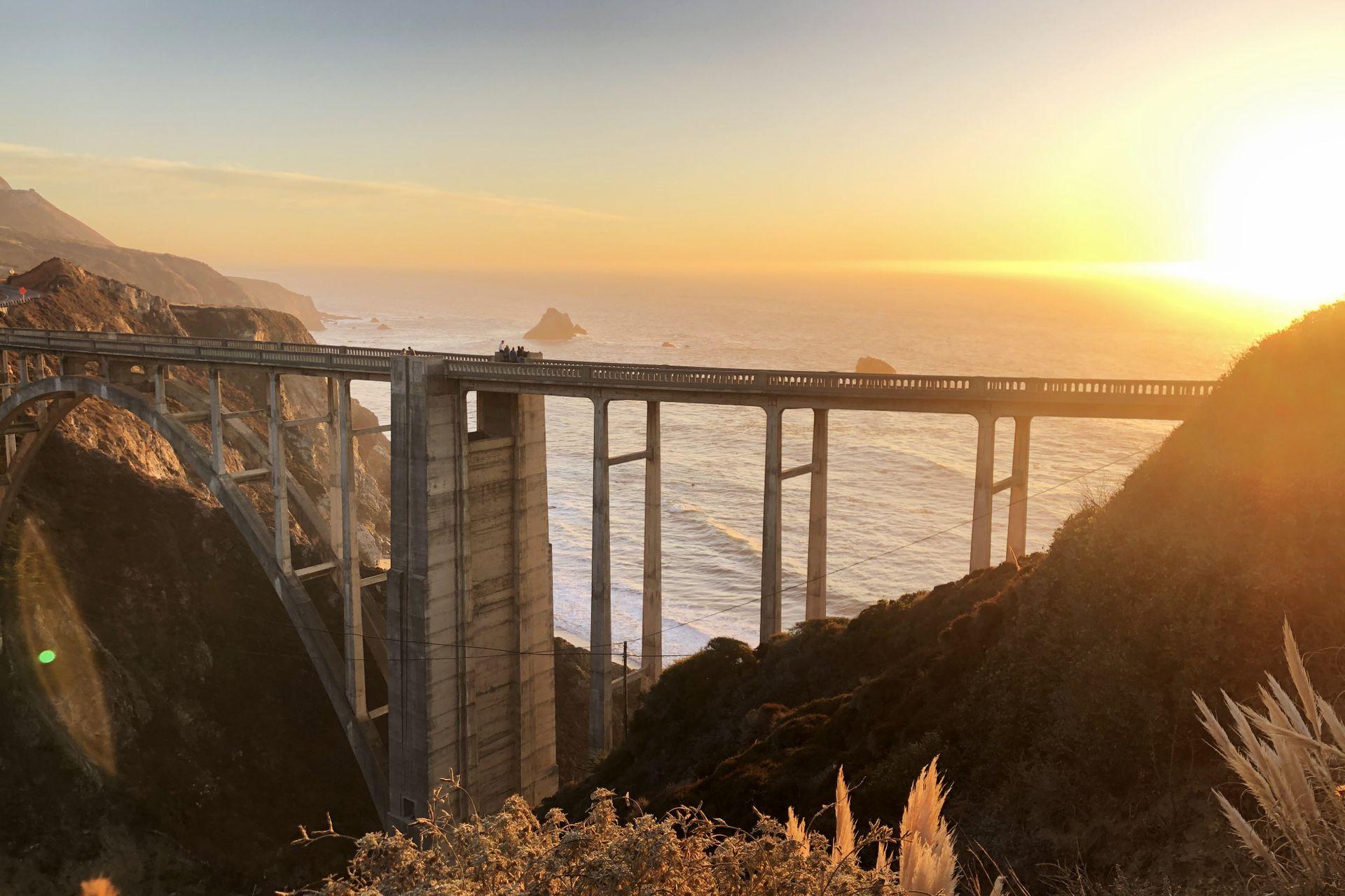Agustín partió rumbo a la costa californiana. Imagen tomada por él en Bixby Creek Bridge, California.