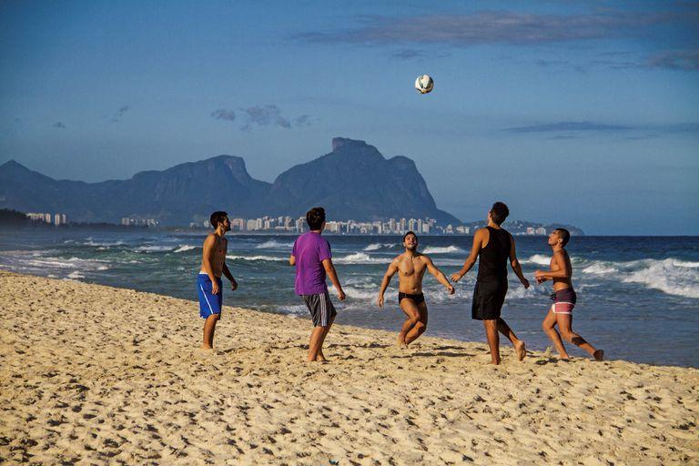 La playa del barrio de Recreio en Río de Janeiro