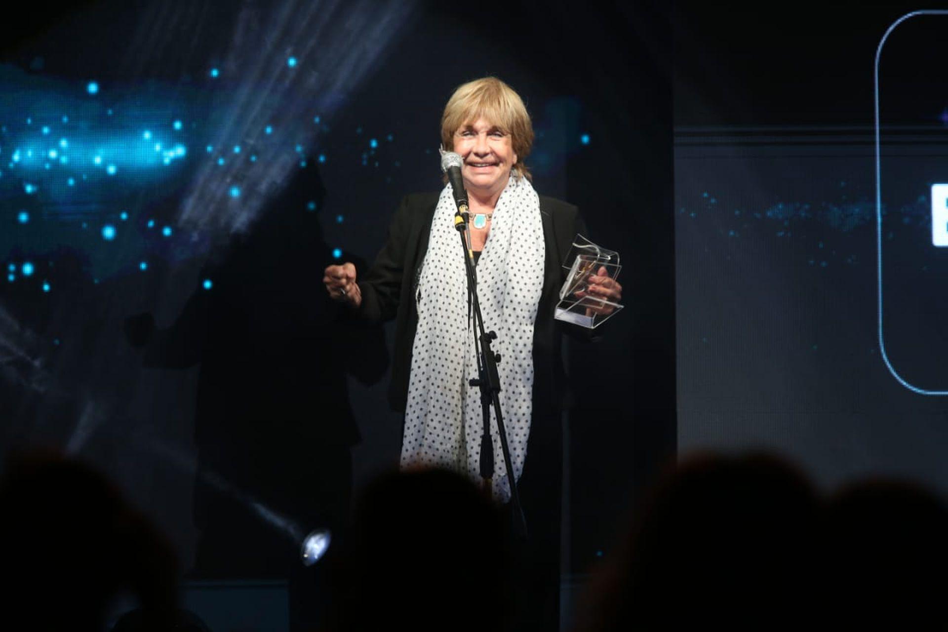 Virginia Lago, protagonista de la obra Gracias, María Elena, obtuvo el Estrella de Mar de Oro este año