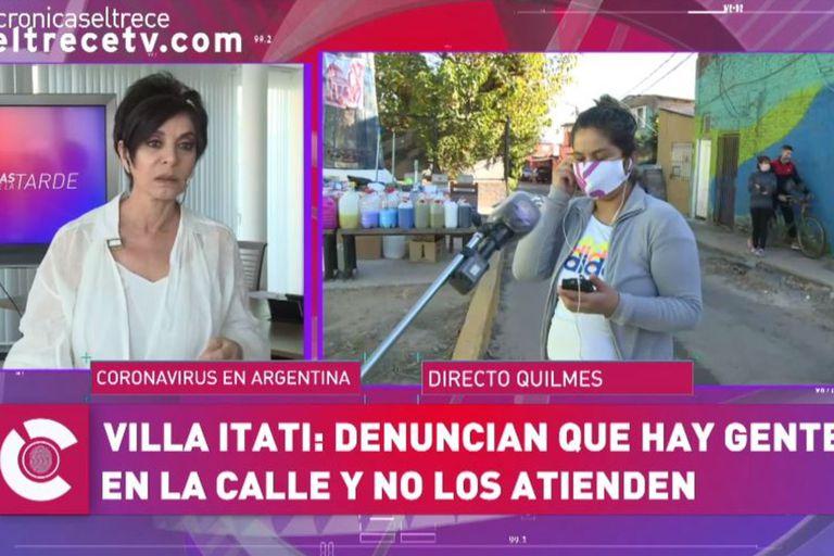 El incómodo momento de Mónica Gutiérrez durante una entrevista en vivo