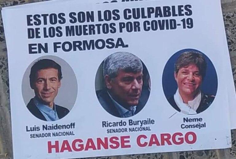 Las caras de Naidenoff, Buryaile y Neme, acusados de ser culpables de los contagios y muertes por coronavirus en Formosa