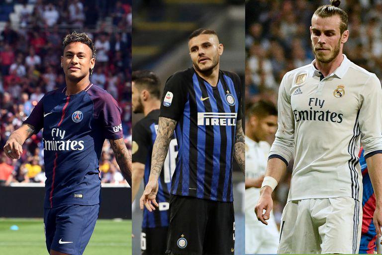 Neymar, Icardi, Bale e Higuaín: la devaluación de los récords del libro de pases