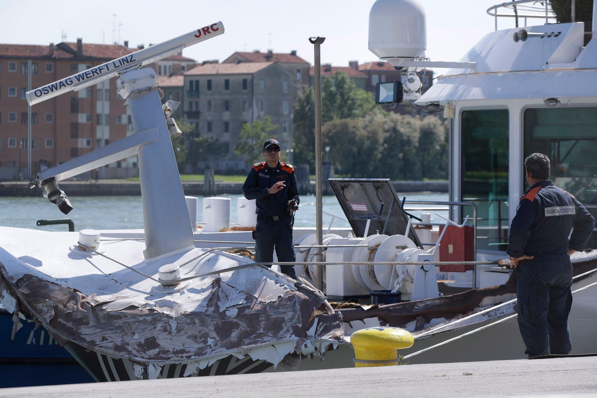 El accidente ocurrió en el canal de Giudecca, un acceso que lleva a la Plaza de San Marcos en Venecia