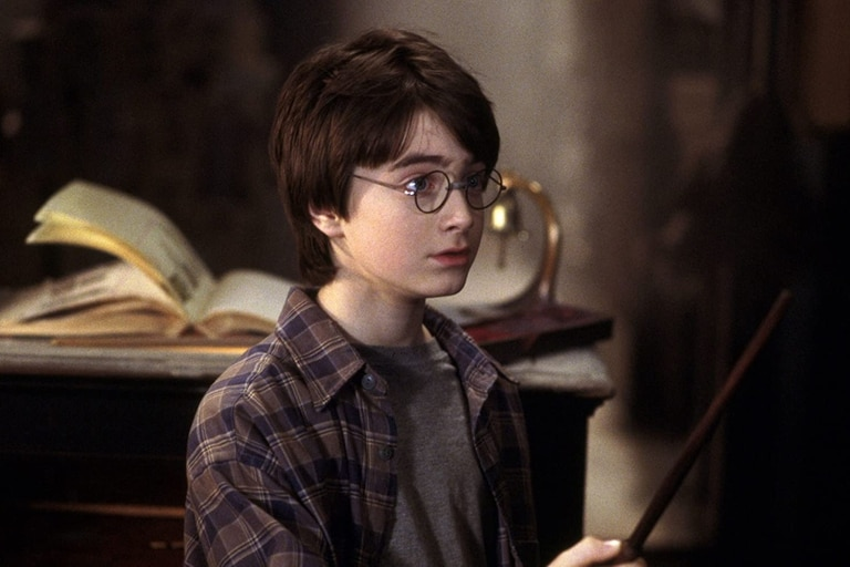 Daniel Radcliffe en Harry Potter y la piedra filosofal