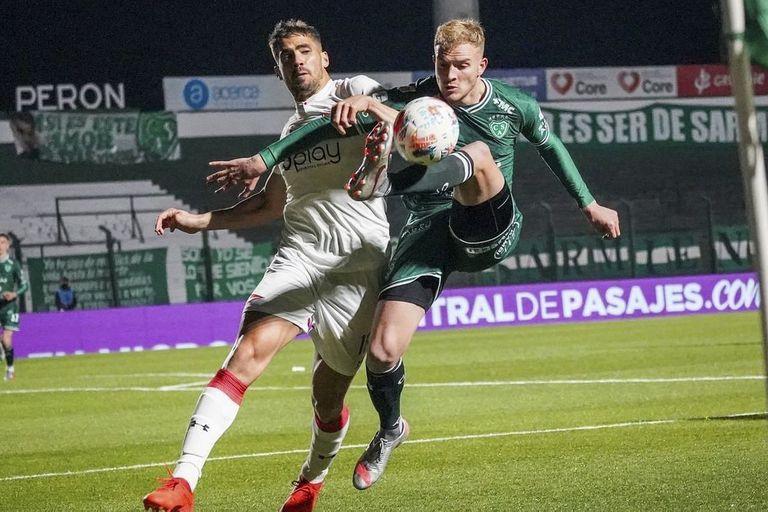 Fabián Noguera y Guido Mainero, protagonistas de Sarmiento 0 vs. Estudiantes 3 aburrido en el período inicial e interesante en el segundo.