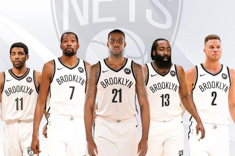 """LaMarcus Aldridge (21), la estrella que desarma el """"super team"""" de Brooklyn por su retiro; el póker quedará confromado por Kyrie Irving, Kevin Durant, James Harden y Blake Griffin"""