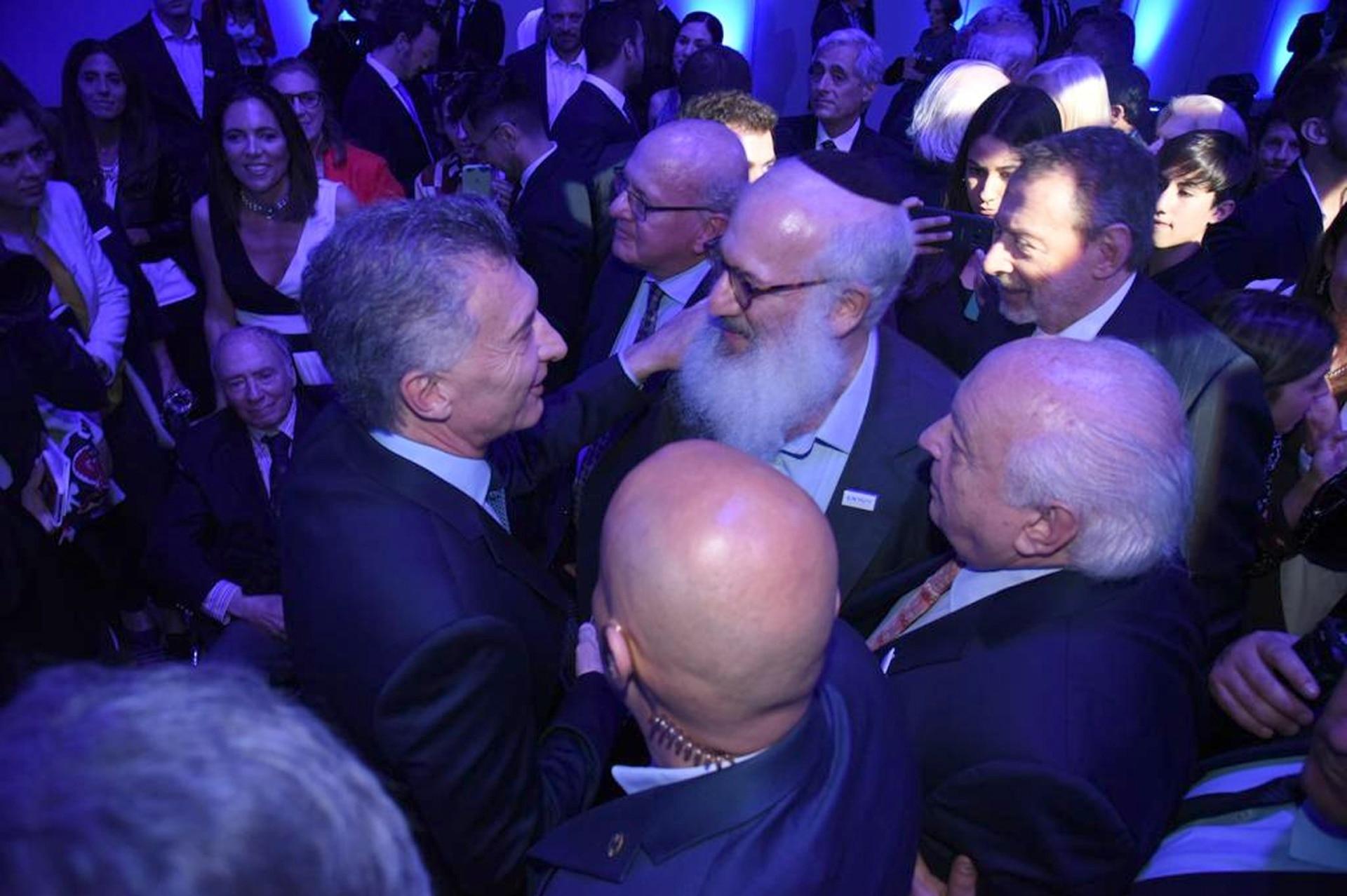 El presidente Mauricio Macri y el presidente de IRSA, Eduardo Elsztain