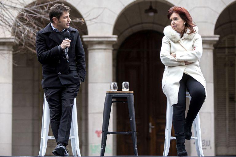La vicepresidenta Cristina Fernández de Kirchner y Axel Kicillof