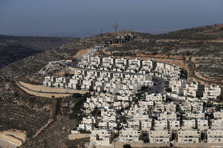 Asentamiento israelí de Givat Zeev, cerca de la ciudad palestina de Ramallah en Cisjordania