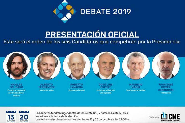 Debate presidencial 2019: los candidatos exponen sus propuestas de gobierno