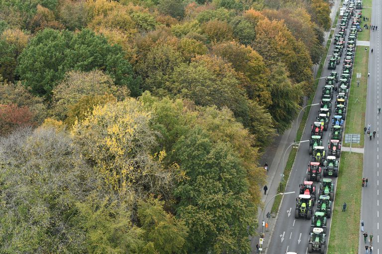 Las columnas de tractores se vieron en 17 ciudades