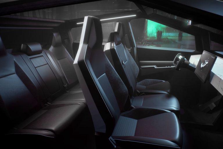 El interior de la Tesla Cybertruck