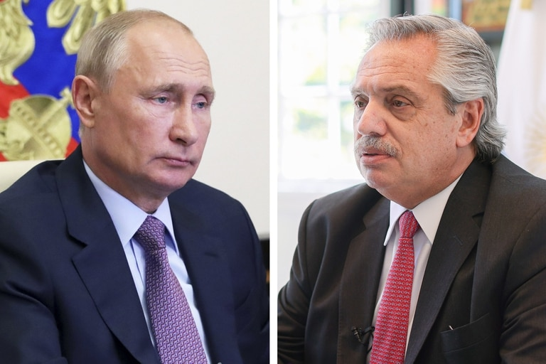 Vladimir Putin y Alberto Fernández hablaron por teléfono este mediodía