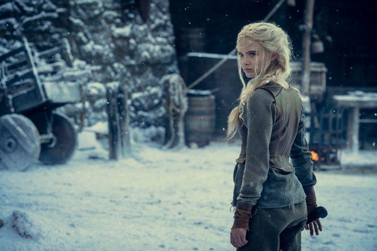 Freya Allan como Ciri en The Witcher. Foto: Netflix
