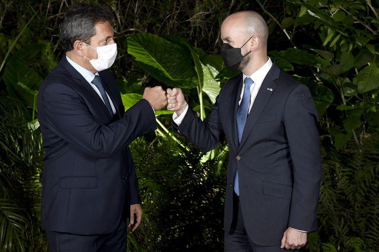 El Presidente de la Cámara de Diputados, Sergio Massa y el asesor especial de la Casa Blanca, Juan González, en Tigre