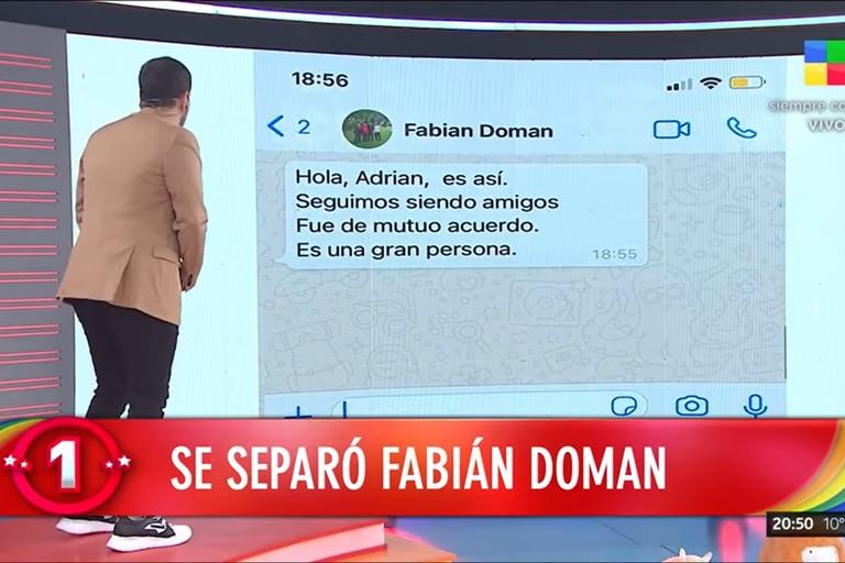 Rodrigo Lussich leyó el mensaje que le escribió Fabián Doman