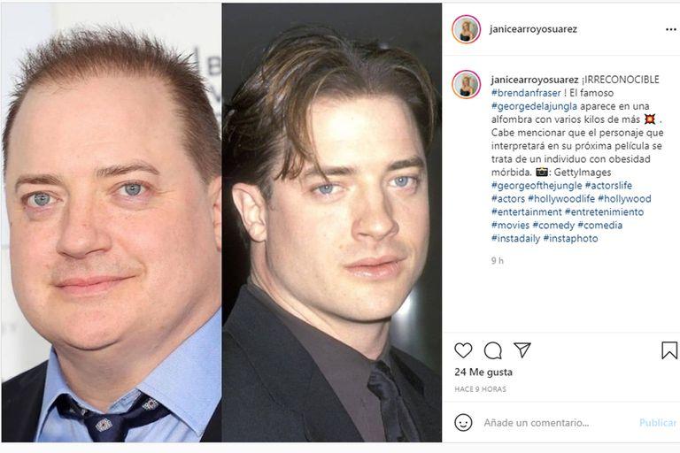 Antes y después: Brendan Fraser reapareció con un nuevo aspecto y las fotos comparativas inundaron las redes sociales