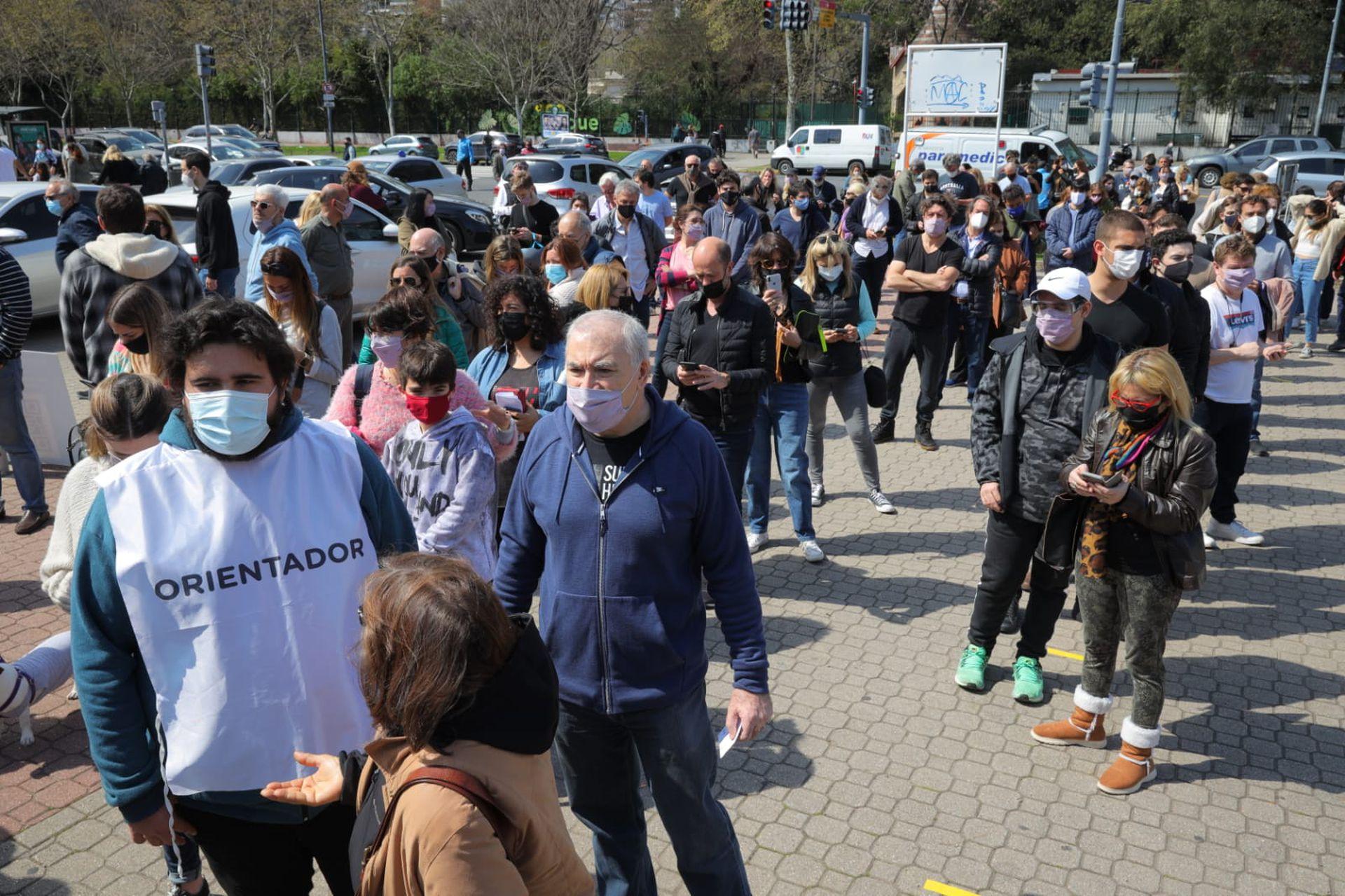 Jornada de votación de las PASO, en la Rural de Palermo