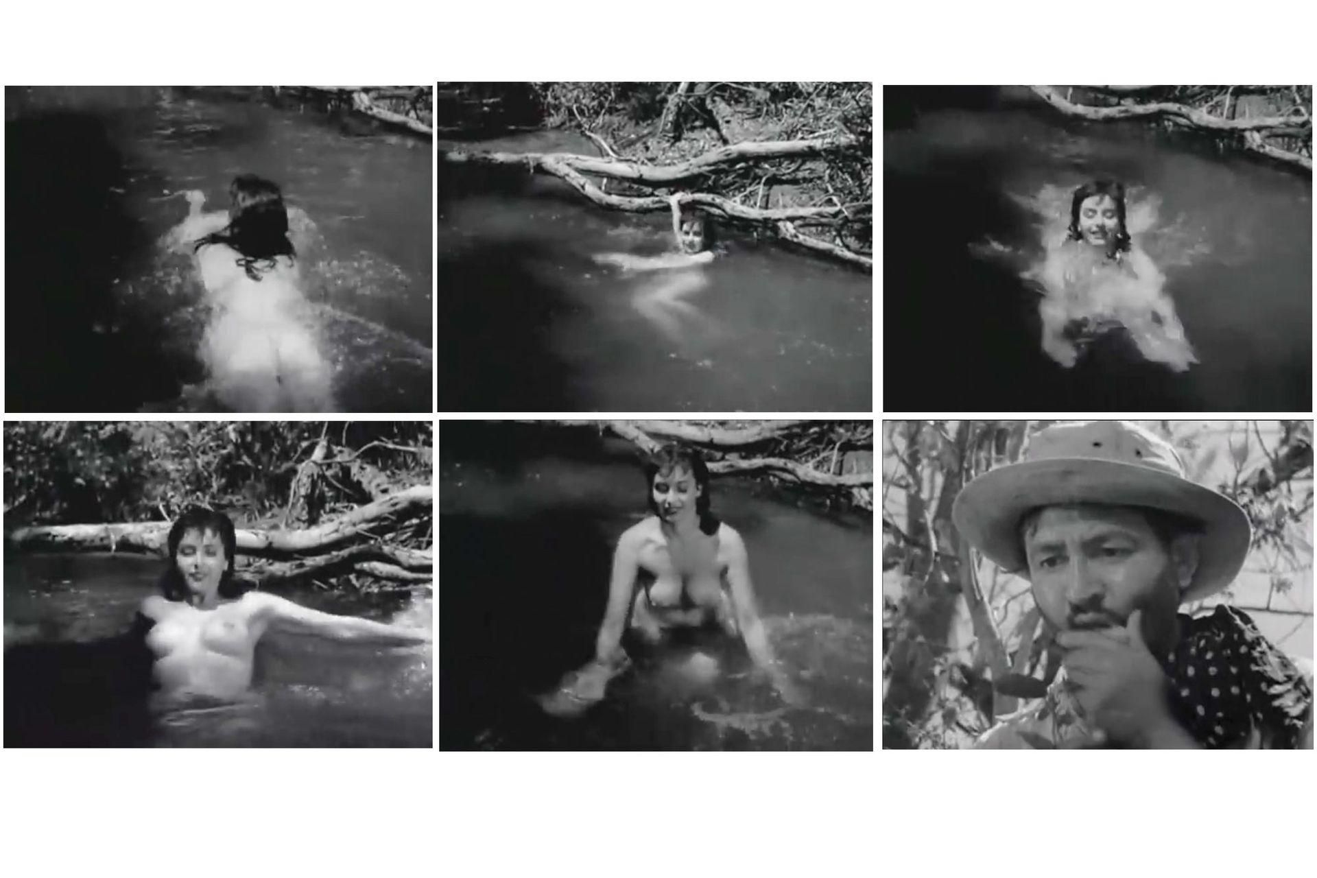 El trueno entre las hojas se estrenó el 2 de octubre de 1958. Basada en un cuento de Roa Bastos, fue el primer desnudo frontal del cine argentino.