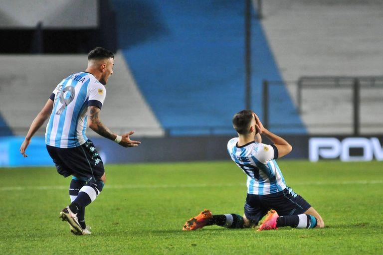 Un golazo de Garré le dio el triunfo a Racing ante Sarmiento en la antesala del clásico