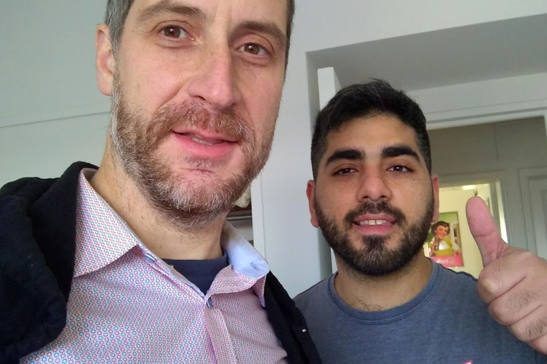 Joseph, junto a su informante argentino Diego, con quien trabajó durante 5 años.