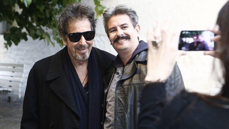 Al Pacino dio una charla para alumnos de actuación y se sacó selfies con sus seguidores