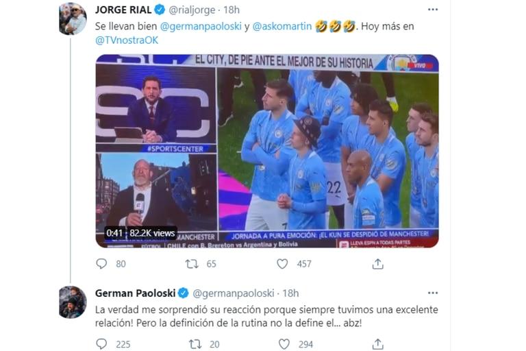 Jorge Rial compartió el momento del cruce al aire y los protagonista la siguieron en las redes sociales