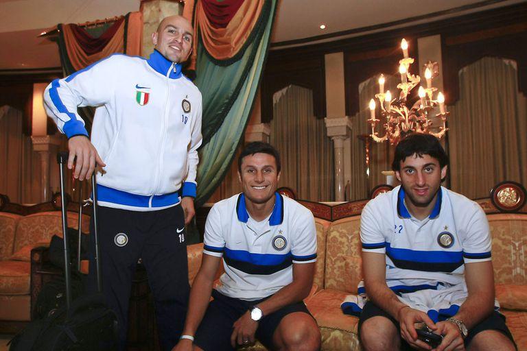 Cambiasso, Zanetti y Milito, tres estrellas argentinas del Inter de Milán