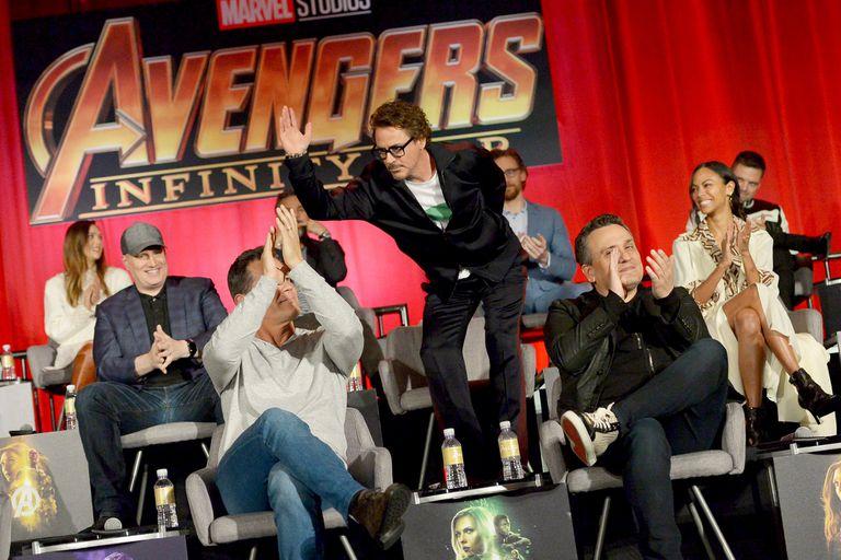 Joe y Anthony Russo en la presentación de Avengers: Infinity War