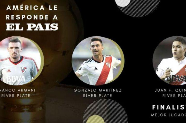Tres DT argentinos y tres jugadores de River: dominio en la encuesta de El País