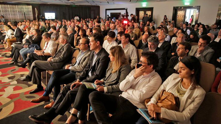 Vista general de la sala colmada de asistentes a la segunda edición de La Nueva Argentina