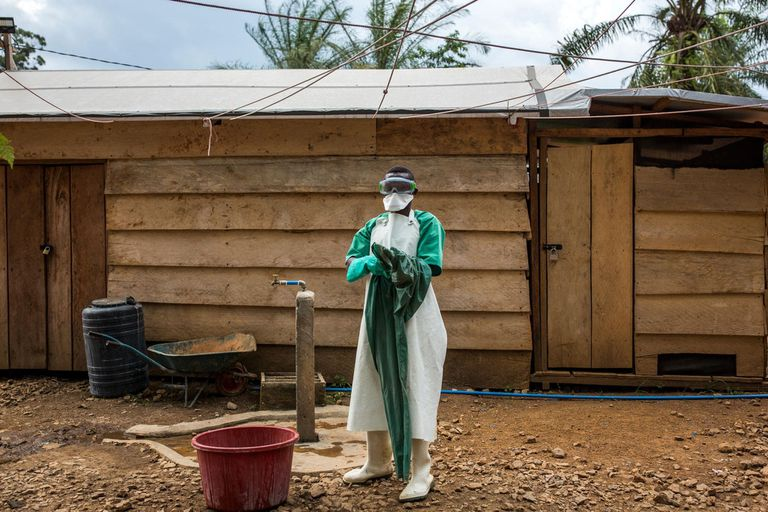 29-01-2019 IMC Ebola treatment centre, supported by WHO. POLITICA WORLD VISION