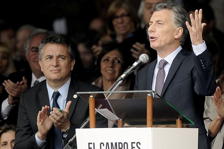 Mauricio Macri junto a Luis Miguel Etchevehere