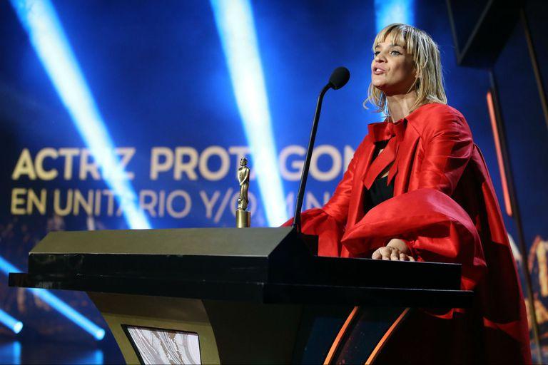 Leticia Brédice, ganadora como mejor actriz de unitario
