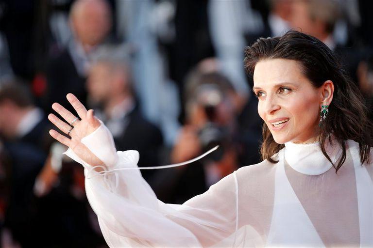 Juliette Binoche, ayer en el glamoroso festival
