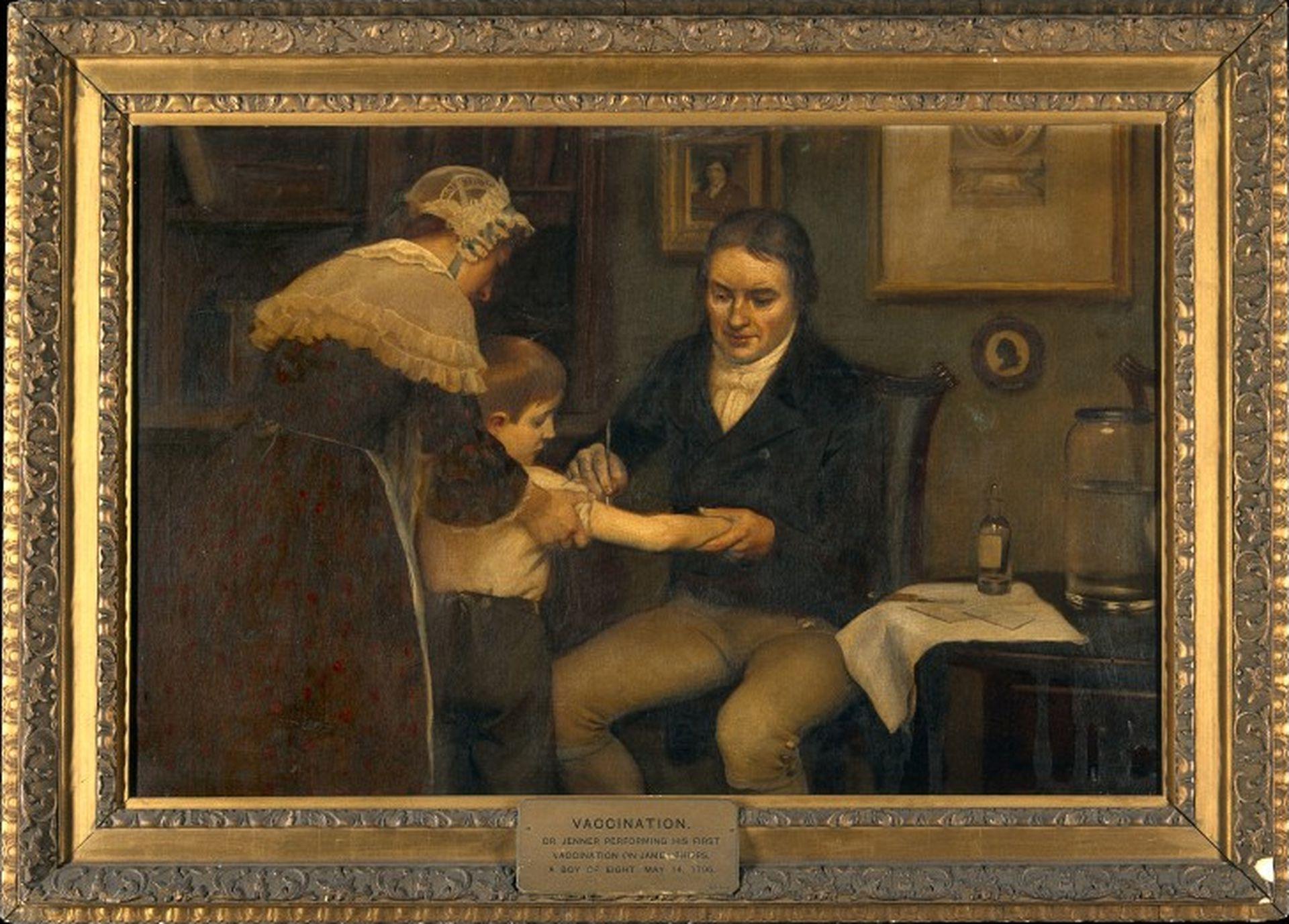 Edward Jenner realiza la primera vacunación en el niño James Phipps, de 8 años. 14 de mayo de 1796.