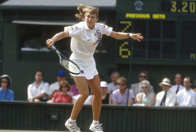 El revés de Graf, que en 1991 obtendría el tercero de sus siete títulos en Wimbledon