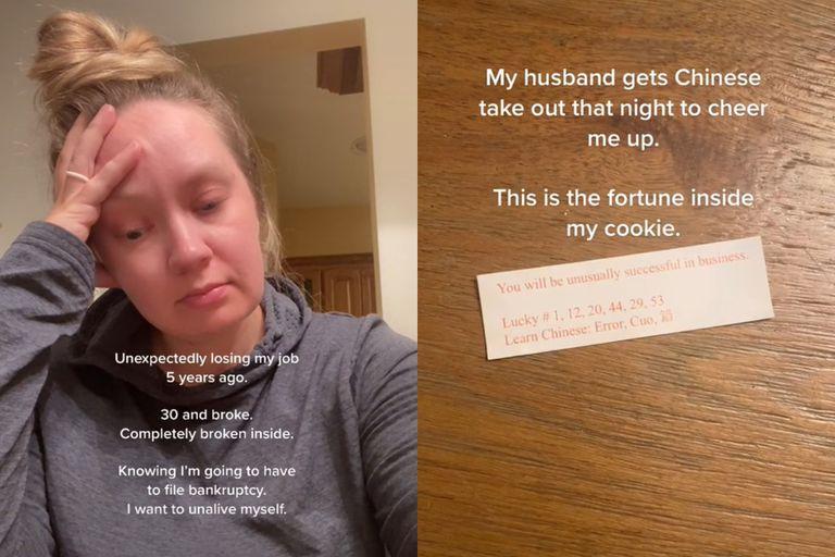 """Una usuaria de las redes sociales se convirtió en millonaria """"de la noche a la mañana"""" gracias al presagio que encontró en una galleta de la fortuna"""