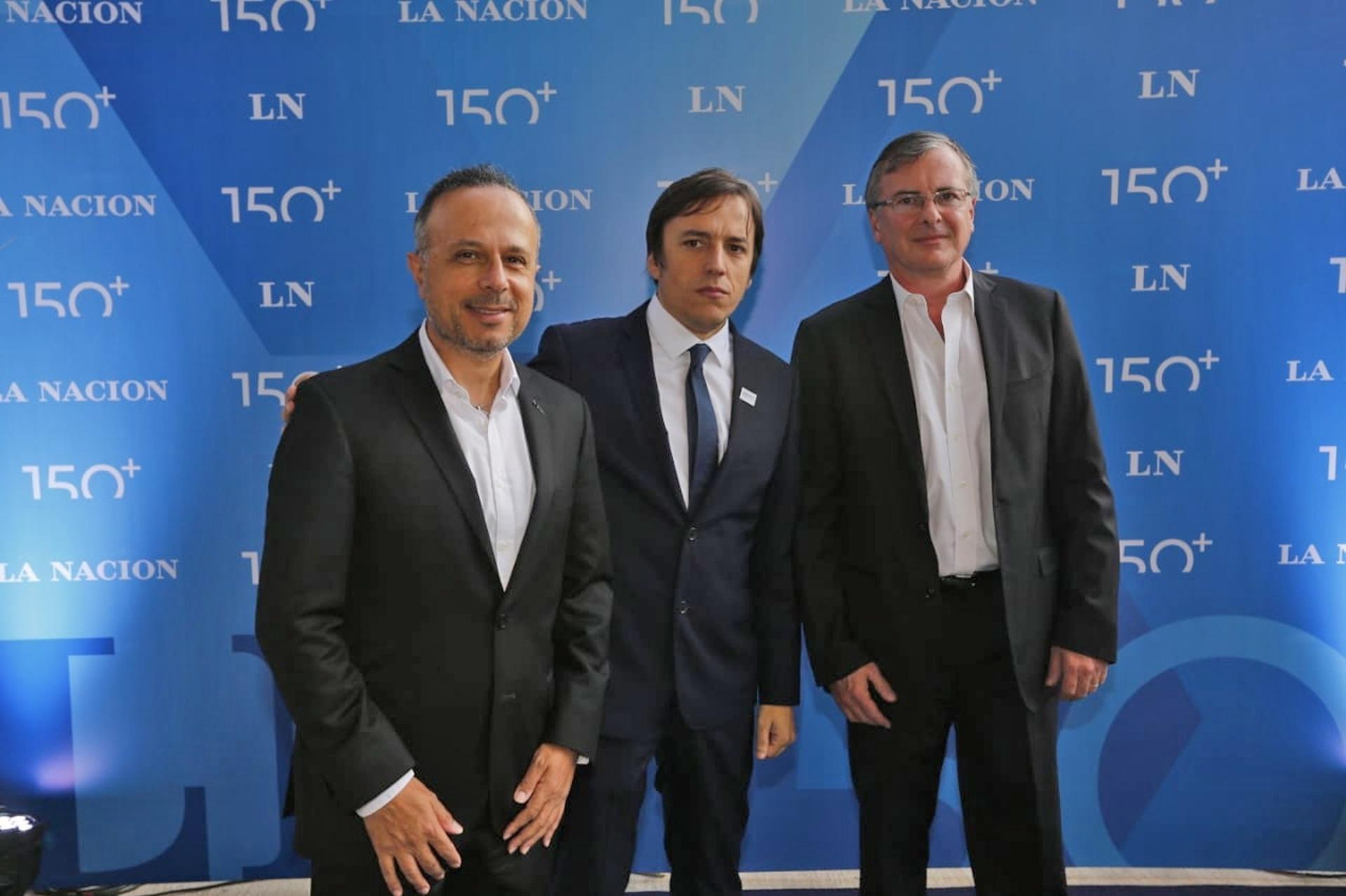 Antonio Aracre, CEO de Syngenta, José del Rio y Adrián Kaufman, vicepresidente de Relaciones Institucionales de Grupo Arcor