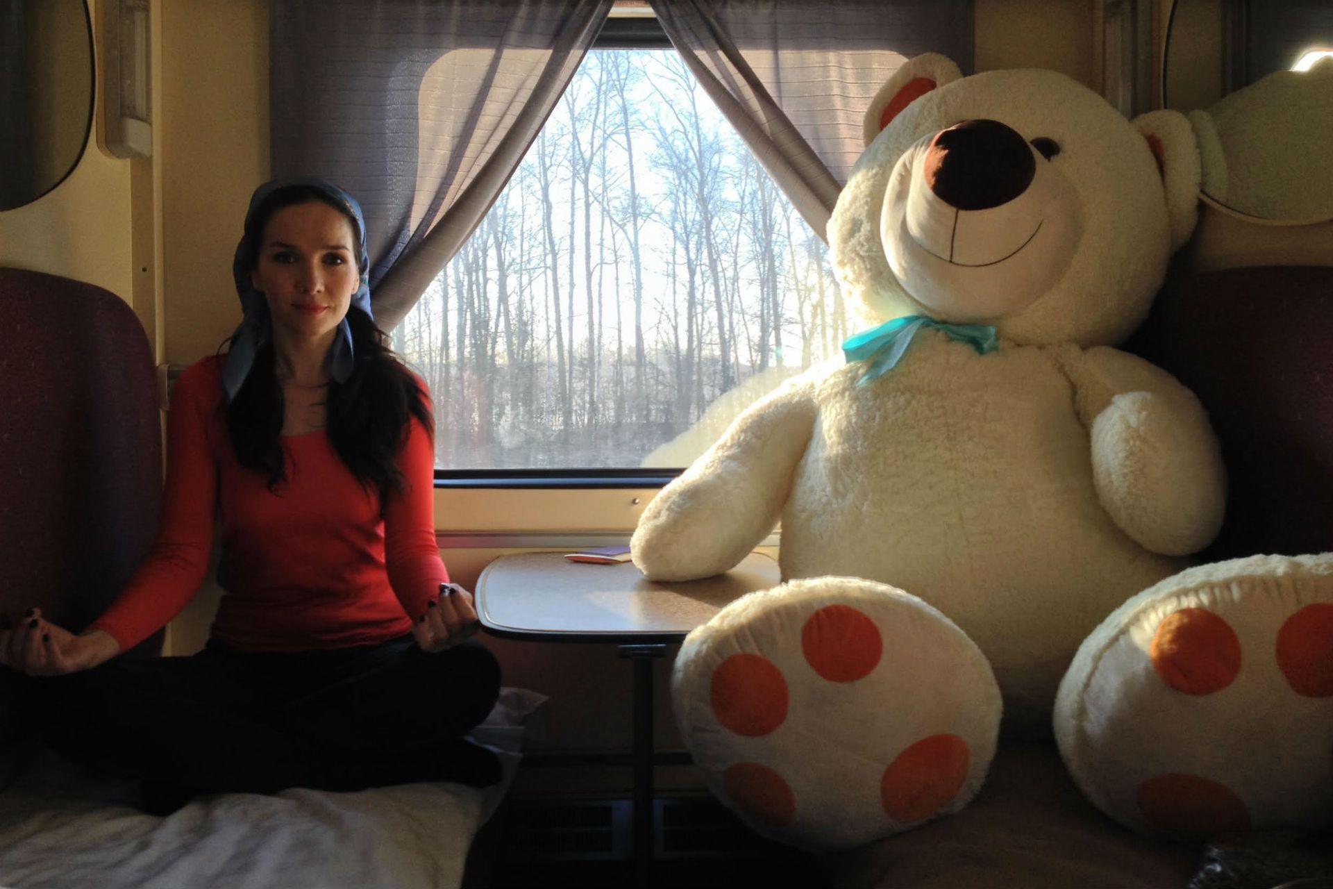 Oreiro a bordo del tren Transiberiano