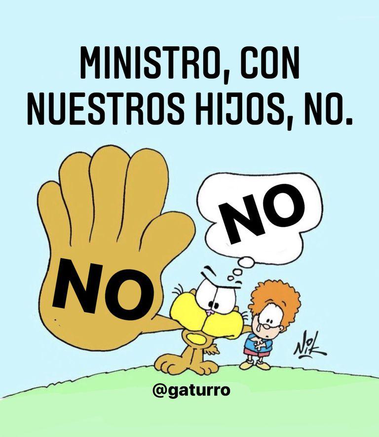 La caricatura de Nik en respuesta al mensaje de Aníbal Fernández