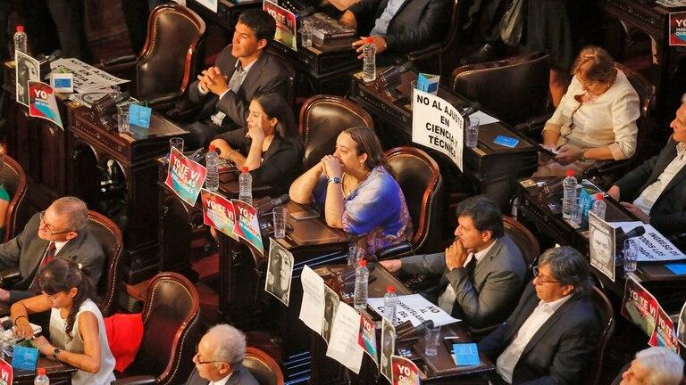 La imagen de Milagro Sala, presente en el inicio de las sesiones