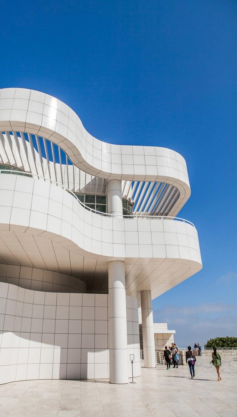 El diseño del museo Getty, de Meier, es una atracción en sí